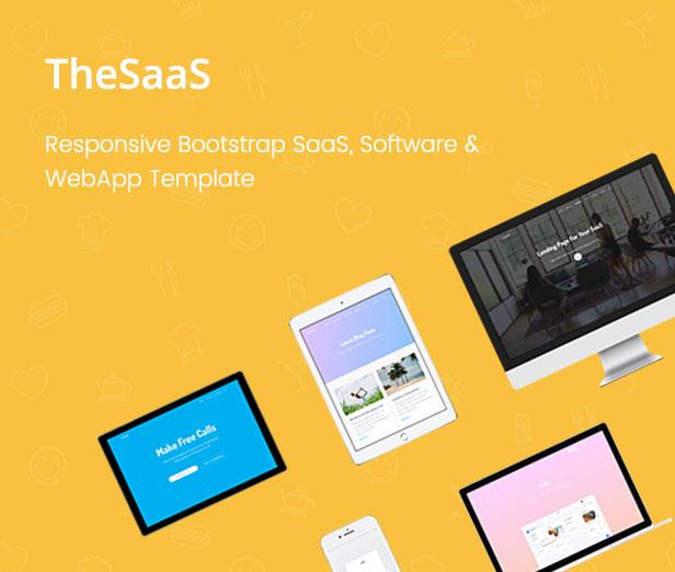 TheSaaS - Responsive Bootstrap SaaS, Software & WebApp Template